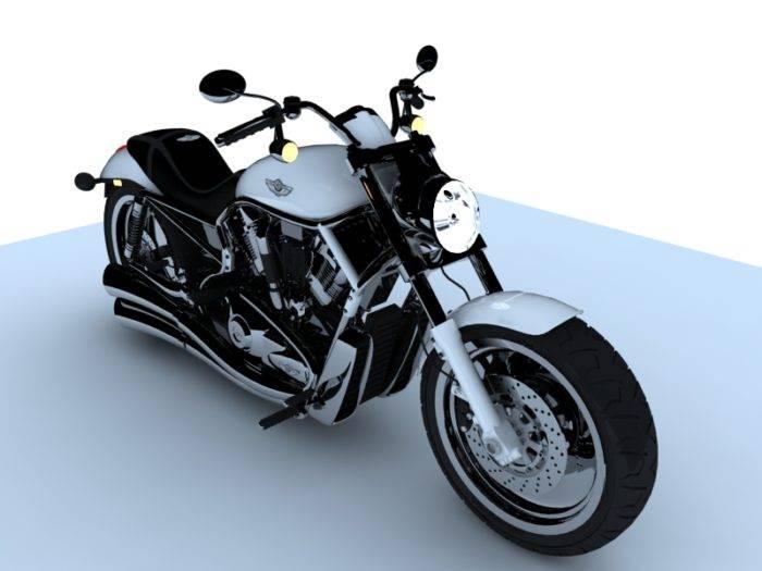 3D模型-哈雷戴维森砍刀摩托车插图1