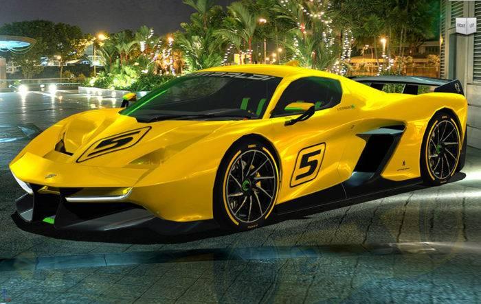 3D打印-超级跑车EF7 VISION GT 2017汽车3D模型插图1