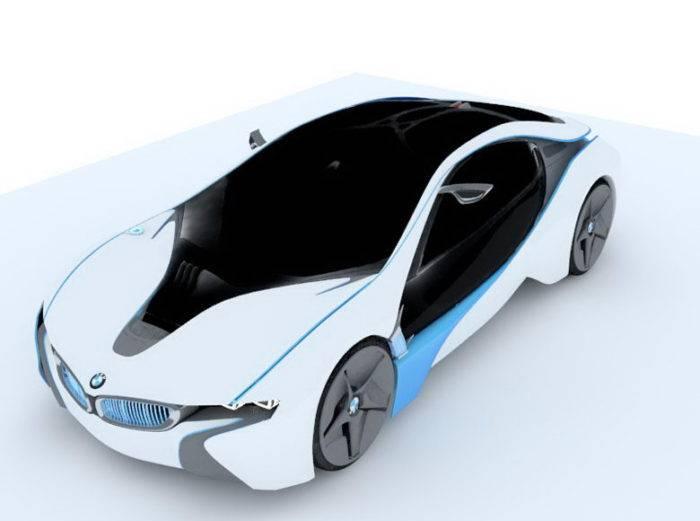 3D打印-宝马I8汽车3D模型插图1