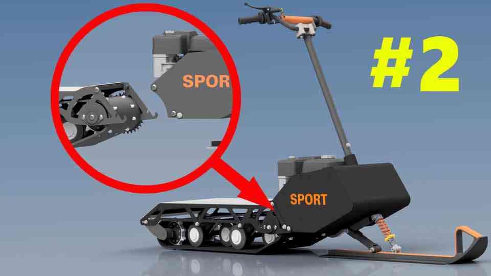 迷你雪地自行车#23D打印模型插图1