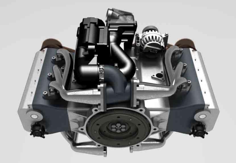 水平对置发动机气缸63D打印模型插图1