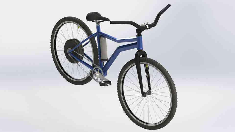 电动自行车项目3D打印模型插图1