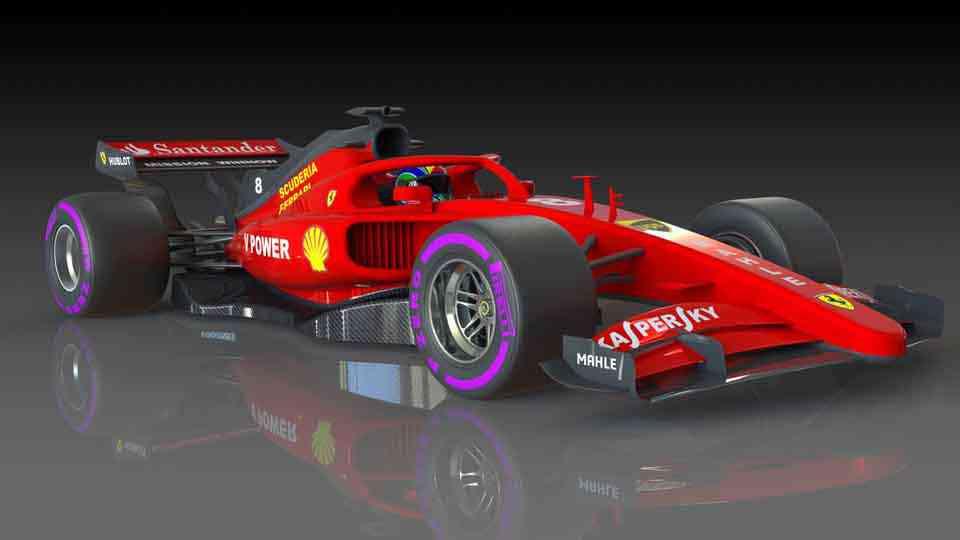 F1法拉利概念3D打印模型