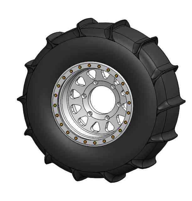 桨轮胎,Sandrail3D打印模型