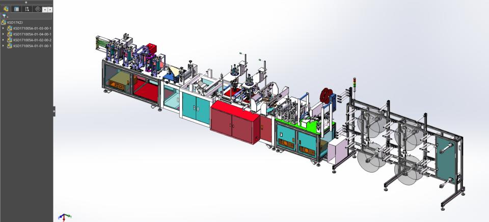 第二代一拖二口罩制作机的详细设计3D模型 2
