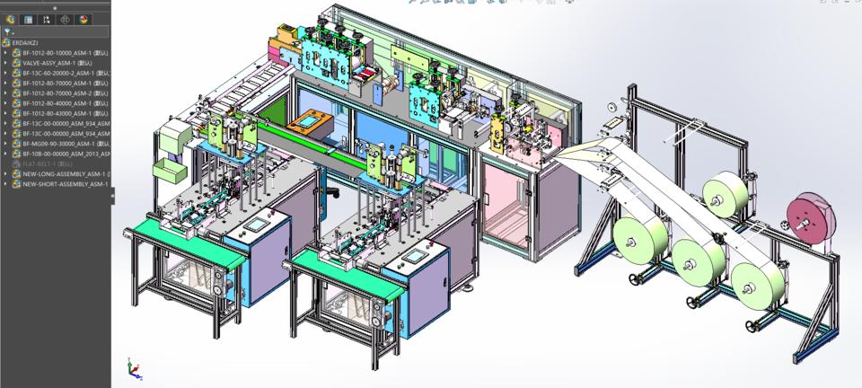 第二代一拖二口罩制作机的详细设计3D模型 6