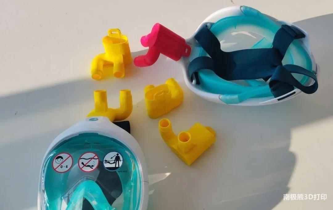 厉害了!3D打印组件改装迪卡侬潜水面罩变呼吸机面罩插图5