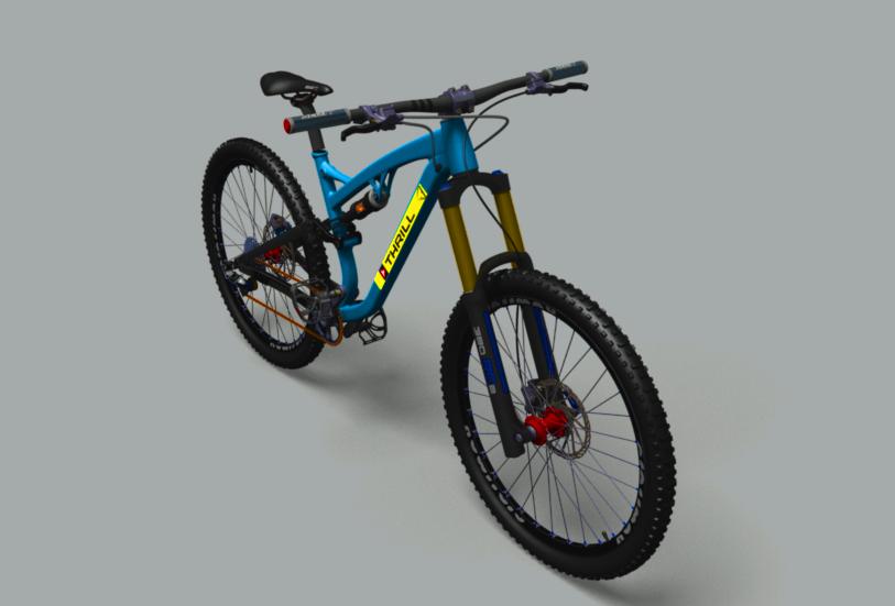 越野自行车3D打印模型插图1