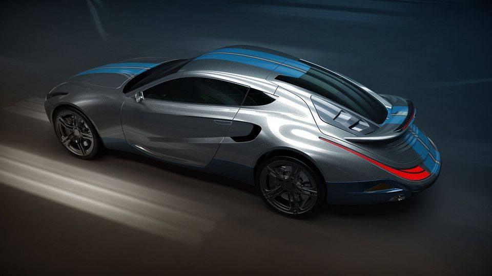 概念车DB103D打印模型插图1