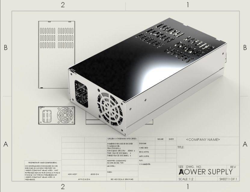 电源金属片3D打印模型插图1