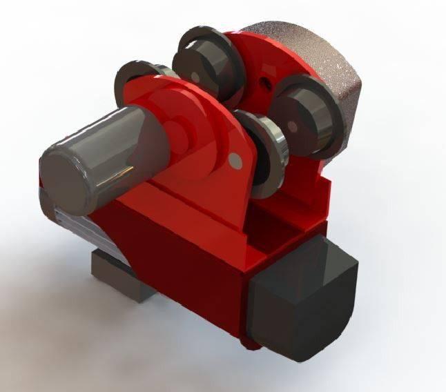 小车COM金舒为500kg /车用绞盘500公斤3D打印模型插图1