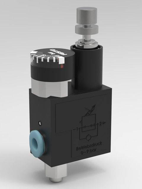 费斯托压力调节器Lrma-M5-QS-43D打印模型插图1