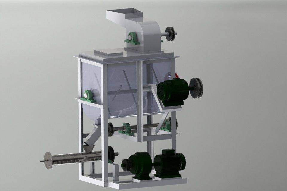 PET食品膨化机3D打印模型插图1