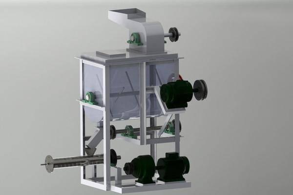 PET食品膨化机3D打印模型