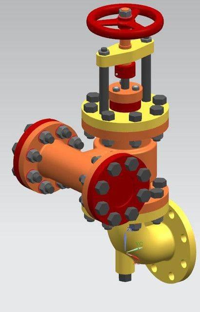 锅炉给水调节阀和止回阀3D打印模型插图1