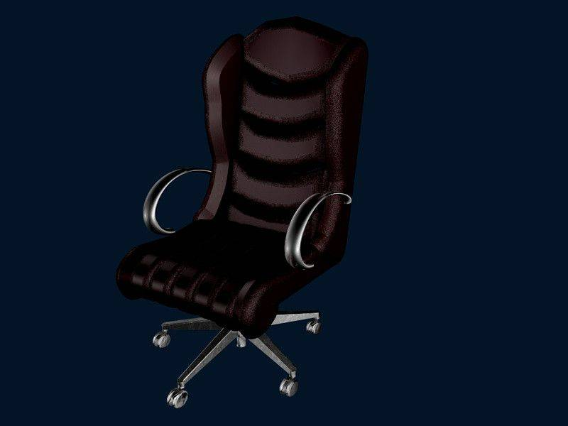 办公椅ALEXA TITEL3D打印模型插图1