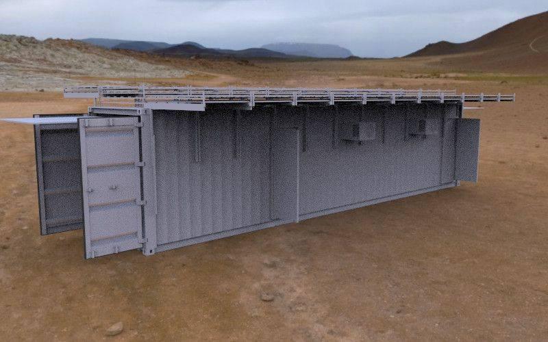 40FT太阳能供电集装箱3D打印模型插图1