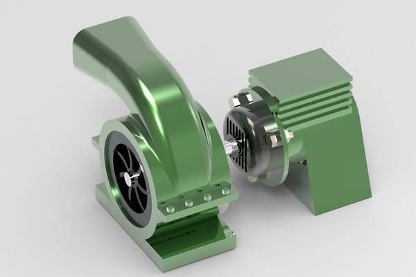 电动鼓风机3D打印模型