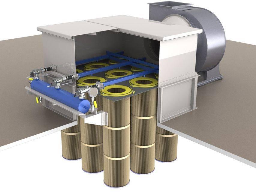 滤芯过滤器垂直。从细尘空气净化3D打印模型插图1