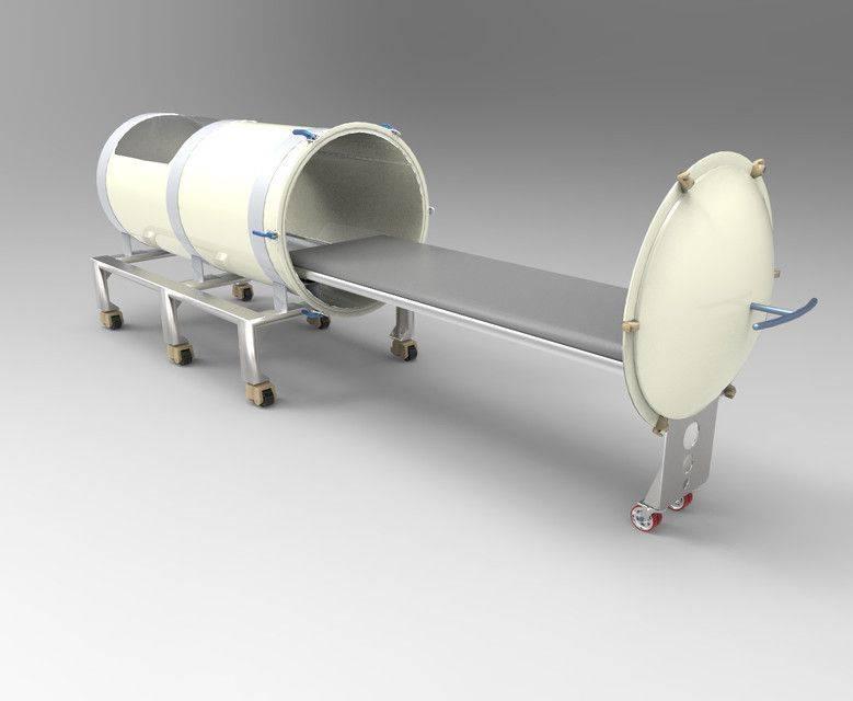 高压氧疗法室3D打印模型插图1