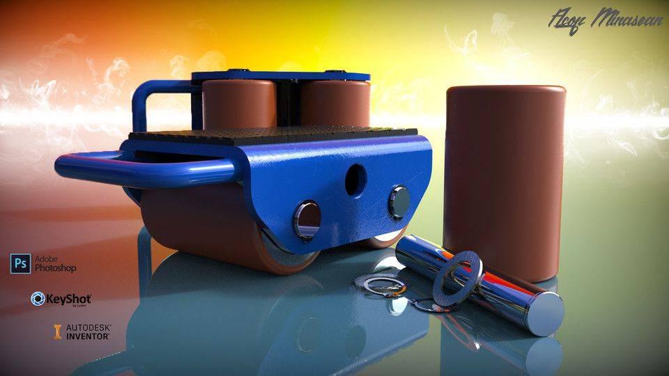 重机滑板3D打印模型插图1