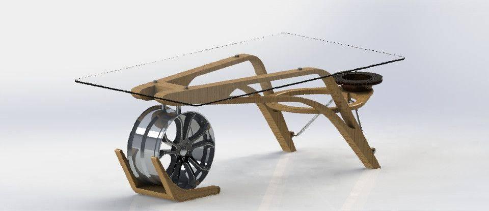 该Velocita表,家具对于任何汽车发烧友,3D打印模型插图1