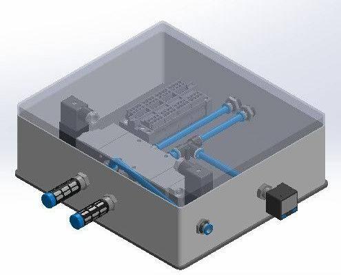 气动接线盒3D打印模型