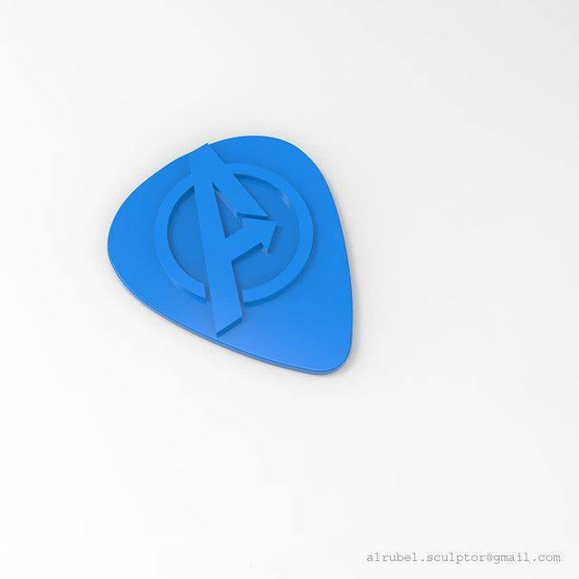 1587827666-f5f9f6bcedb286b.jpg-插件-复仇者吉他拨片3D打印模型