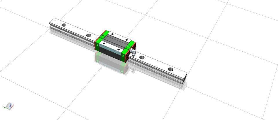 线性导轨EGH20CA_1_R_300_Z0_H_SS_3D打印模型插图1