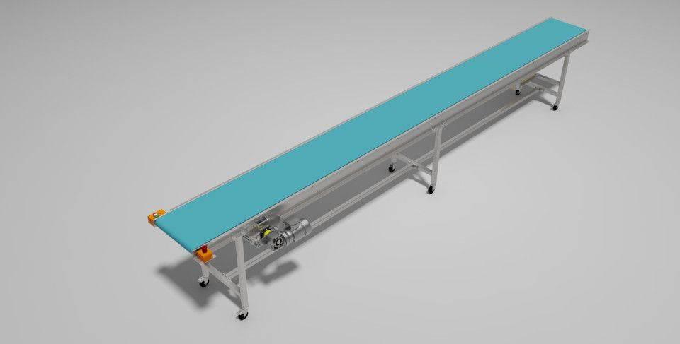 食品输送带3D打印模型插图1