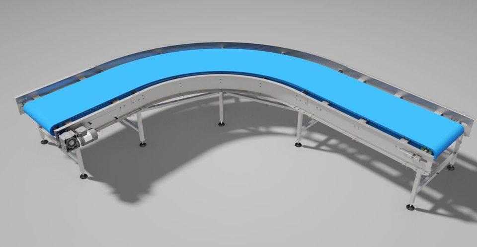 弯曲的传送机90°(模块化带)3D打印模型插图1