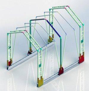 伸缩顶篷系统3D打印模型插图1