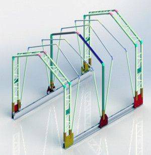 伸缩顶篷系统3D打印模型