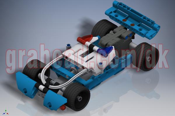 乐高积木警方追捕3D打印模型