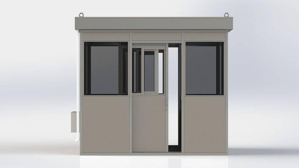 钢结构防护展台 - 平屋顶3D打印模型插图1