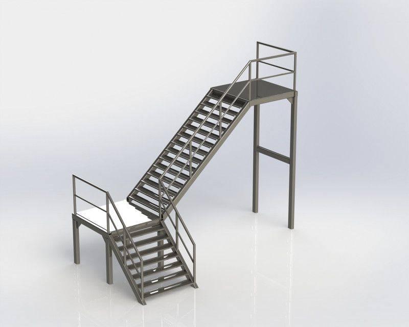 工业楼梯3D打印模型插图1