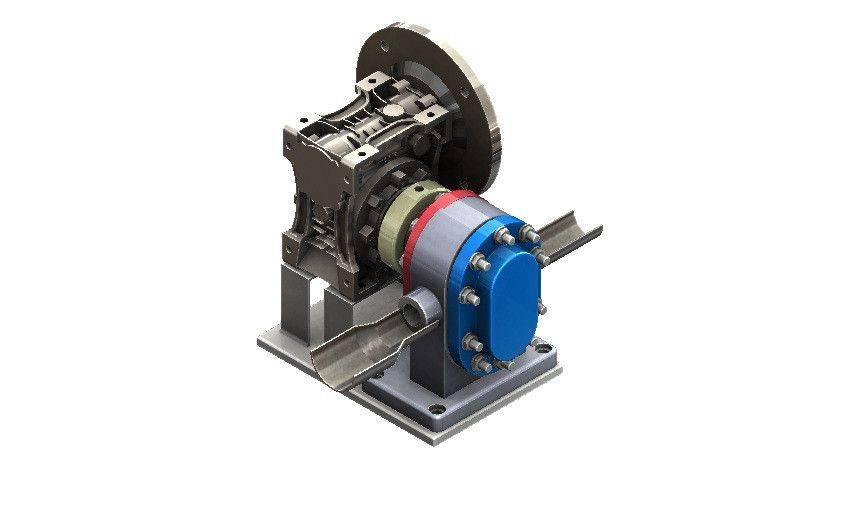 转子泵与变速箱3D打印模型插图1