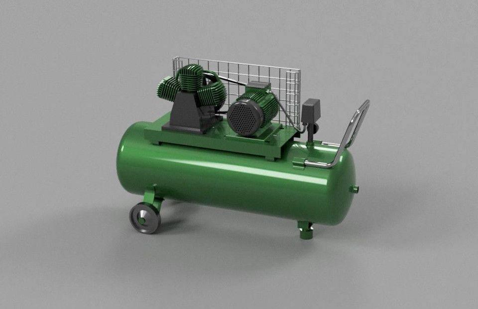 空气压缩机3D打印模型插图1