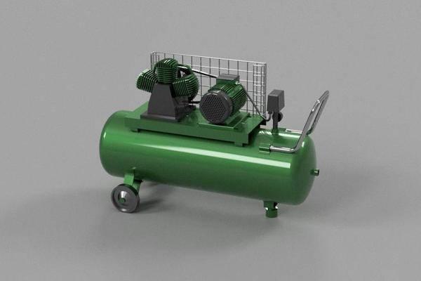 空气压缩机3D打印模型
