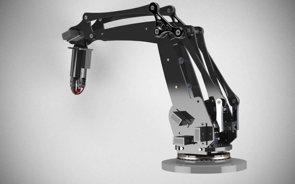 低成本机械臂3D打印模型插图1