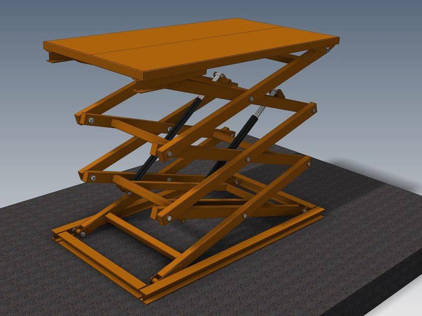 剪叉式升降机3吨3D打印模型插图1