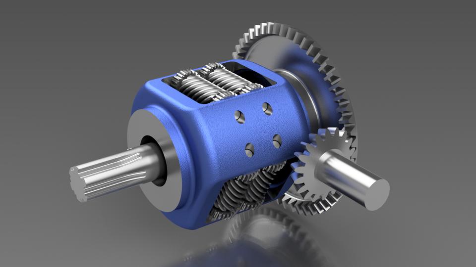 Torsen差速器3D打印模型插图1