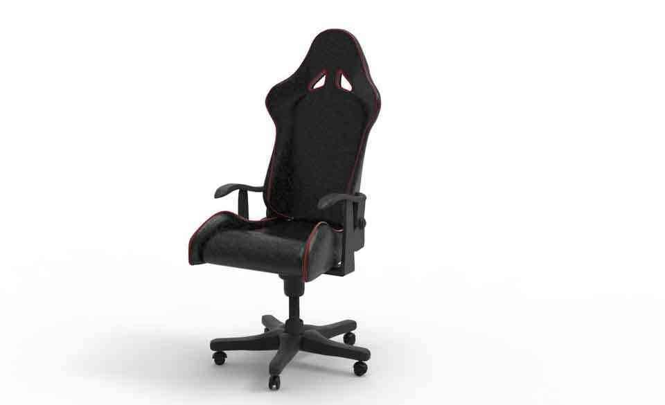 游戏椅3D打印模型