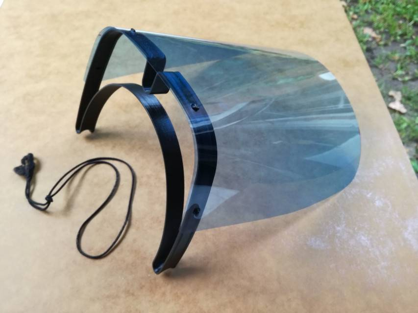 Quick print face shield V2 by Luciano R Sasso3D模型插图1