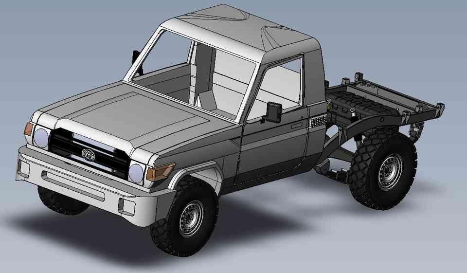 丰田皮卡TLC STL3D打印模型插图1