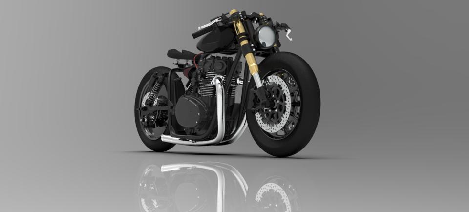 定制设计雅马哈 -  XS 650改型3D打印模型插图1