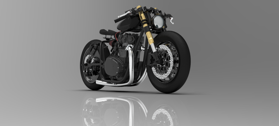 定制设计雅马哈 -  XS 650改型3D打印模型