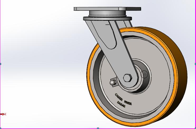 脚轮3D打印模型插图1