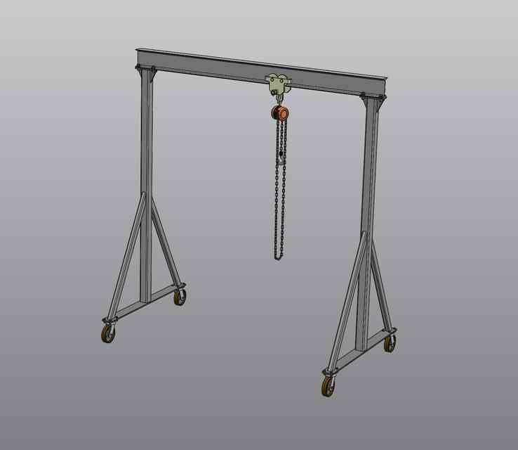 龙门吊3D打印模型插图1