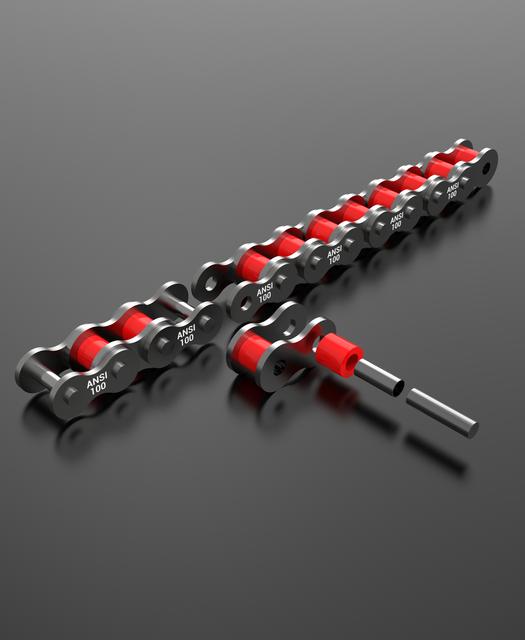 标准滚子链 -  ANSI 1003D打印模型